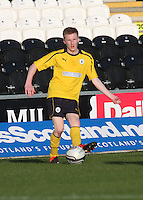Ryan Blair in the St Mirren v Falkirk Clydesdale Bank Scottish Premier League Under 20 match played at St Mirren Park, Paisley on 30.4.13. .