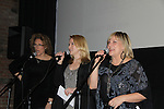 "On Stage - hosts comedian Judy Gold, Meredith Patterson (AMC - ""Francesca"" and wedding planner for ""Olivia"" on GL) & producer for this show & sang """"Dream a Little Dream"" & One Life To Live's Kim Zimmer at the 4th Annual Curtains Up for a Cure Concert: Broadway Honors the faces of HD benefitting Huntington's Disease Society of America on January 31, 2011 at Village Cinema East, New York City, New York. (Photo by Sue Coflin/Max Photos)"