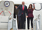U.S. Vice President Mike Pence Air Force Two arrival