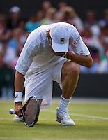 01-07-13, England, London,  AELTC, Wimbledon, Tennis, Wimbledon 2013, Day seven, Andreas Seppi (ITA)<br /> <br /> <br /> <br /> Photo: Henk Koster