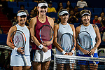 (From left to right) Xinyun Han, Ying-Ying Duan, Zhaoxuan Yang and Chen Liang of China pose for photo prior to the doubles Round Robin match of the WTA Elite Trophy Zhuhai 2017 at Hengqin Tennis Center on November  04, 2017 in Zhuhai, China. Photo by Yu Chun Christopher Wong / Power Sport Images