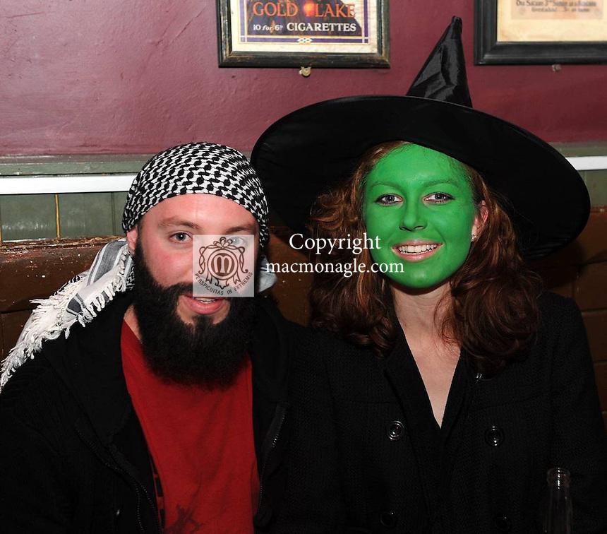 Alex Jansen and Agmieska Zoraw  at the 'Lane of Scares'  annual Halloween Bash at The Ross Lane Bar and Courtneys Bar, Killarney on Friday night. Picture: Eamonn Keogh (MacMonagle, Killarney)
