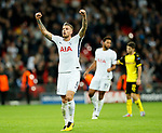 Tottenham's Toby Alderwireld celebrates at the final whistle during the champions league match at Wembley Stadium, London. Picture date 13th September 2017. Picture credit should read: David Klein/Sportimage