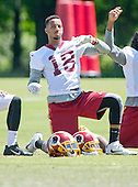 Washington Redskins wide receiver Josh Doctson (18), who was selected by the team in the first round of the 2016 NFL Draft, participates in the Veteran Minicamp at Redskins Park in Ashburn, Virginia on Tuesday, June 14, 2016.<br /> Credit: Ron Sachs / CNP