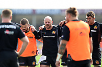 Jack Yeandle of Exeter Chiefs looks on in a pre-match huddle. Gallagher Premiership match, between Exeter Chiefs and Leicester Tigers on September 1, 2018 at Sandy Park in Exeter, England. Photo by: Patrick Khachfe / JMP