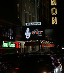 Theatre Marquee for the Opening Night of 'The Cher Show'  at Neil Simon Theatre on December 3, 2018 in New York City.