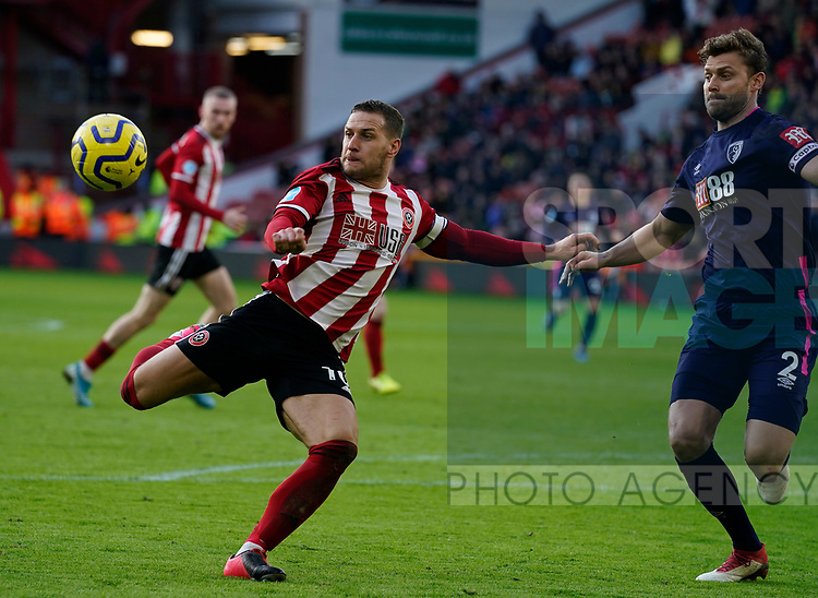 Billy Sharp of Sheffield Utd during the Premier League match at Bramall Lane, Sheffield. Picture date: 9th February 2020. Picture credit should read: Simon Bellis/Sportimage
