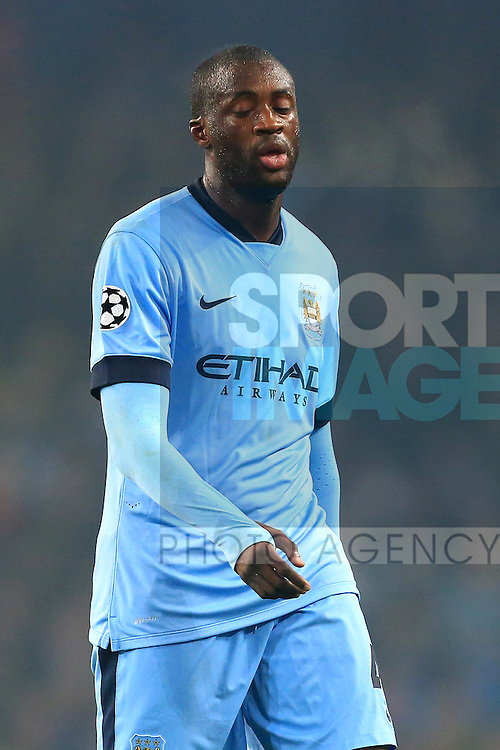 Yaya Toure of Manchester City looks dejected - Manchester City vs. CSKA Moscow - UEFA Champions League - Etihad Stadium - Manchester - 05/11/2014 Pic Philip Oldham/Sportimage