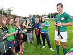 Irish international rugby star Johnny Sexton at the training day at Boyne RFC. Photo: Colin Bell/pressphotos.ie