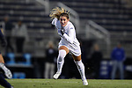 DURHAM, NC - NOVEMBER 11: Duke's Morgan Reid. The Duke University Blue Devils hosted the UNCG Spartans on November 11, 2017 at Koskinen Stadium in Durham, NC in an NCAA Division I Women's Soccer Tournament First Round game. Duke won the game 1-0.