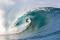 CJ Hobgood (USA) surfing at TEAHUPOO, Tahiti . Photo: joliphotos