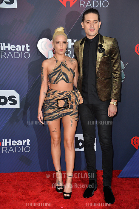 Halsey &amp; G-Eazy at the 2018 iHeartRadio Music Awards at The Forum, Los Angeles, USA 11 March 2018<br /> Picture: Paul Smith/Featureflash/SilverHub 0208 004 5359 sales@silverhubmedia.com