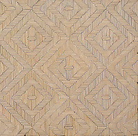 Rattan, a hand-cut tumbled mosaic, shown in Lagos Gold.