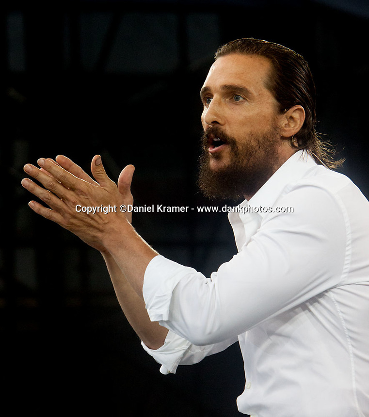 Matthew McConaughey delivers the commencement speech to the 2015 graduating class at the University of Houston.