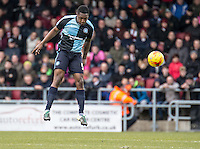Anthony Stewart of Wycombe Wanderers during the Sky Bet League 2 match between Northampton Town and Wycombe Wanderers at Sixfields Stadium, Northampton, England on the 20th February 2016. Photo by Liam McAvoy.