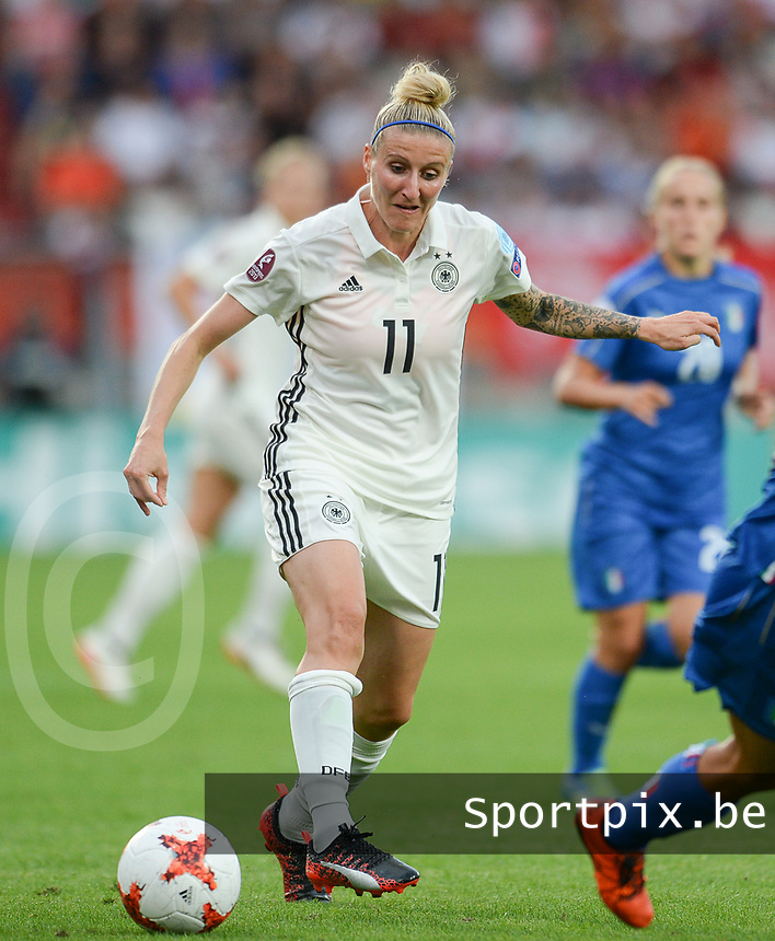 20170721 - TILBURG , NETHERLANDS : German Anja Mittag  pictured during the female soccer game between Germany and Italy  , the second game in Group B at the Women's Euro 2017 , European Championship in The Netherlands 2017 , Friday 21th of july 2017 at Stadion Koning Willem II in Tilburg , The Netherlands PHOTO SPORTPIX.BE | DIRK VUYLSTEKE