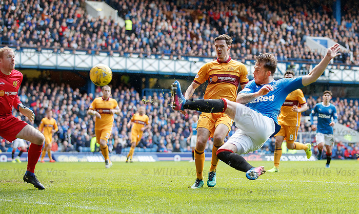 Joe Garner scores for Rangers