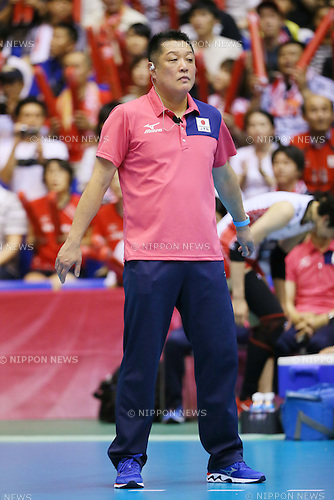 Masayoshi Manabe (JPN), <br /> JULY 11, 2015 - Volleyball : <br /> FIVB Volleyball World Grand Prix Saitama 2015 <br /> preliminary round match <br /> between Japan 3-0 Dominican Republic <br /> at Saitama city memorial gymnasium <br /> in Saitama, Japan. <br /> (Photo by YUTAKA/AFLO SPORT)