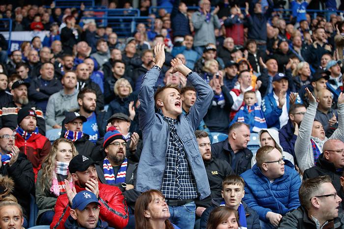 06.10.2019 Rangers v Hamilton: Rangers fans