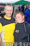 FUN DAY: Dan and Vickie McCarthy having fun at the Tralee Triathlon Club Event in Fenit on Saturday.