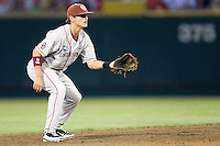 Bushyhead, Caleb 1731 in Game 8 of the NCAA Division One Men's College World Series on Monday June 22nd, 2010 at Johnny Rosenblatt Stadium in Omaha, Nebraska.  (Photo by Andrew Woolley / Four Seam Images)