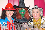 COSTUMES: Una Flynn, Hazel Devane and Brian OSullivan backstage at the Calamity Dame pantomime in the Killorglin CYMS last Sunday..