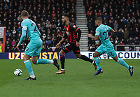 Bournemouth's Joshua King (centre) under pressure from Newcastle United <br /> <br /> Photographer David Horton/CameraSport<br /> <br /> The Premier League - Bournemouth v Newcastle United - Saturday 16th March 2019 - Vitality Stadium - Bournemouth<br /> <br /> World Copyright © 2019 CameraSport. All rights reserved. 43 Linden Ave. Countesthorpe. Leicester. England. LE8 5PG - Tel: +44 (0) 116 277 4147 - admin@camerasport.com - www.camerasport.com