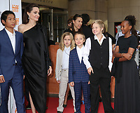 ANGELINA JOLIE WITH HER CHILDREN PAX, VIVIENNE, KNOX, SHILOH AND ZAHARA - RED CARPET OF THE FILM 'FIRST THEY KILLED MY FATHER' - 42ND TORONTO INTERNATIONAL FILM FESTIVAL 2017