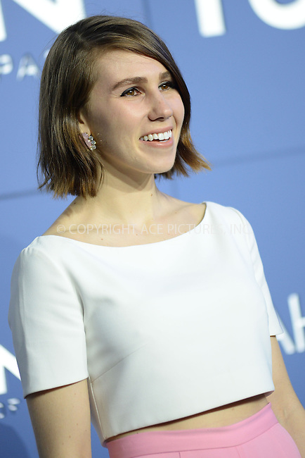WWW.ACEPIXS.COM<br /> May 10, 2014 New York City<br /> <br /> Zosia Mamet attending the 'X-Men: Days Of Future Past' world premiere at Jacob Javits Center onMay 10, 2014 in New York City.<br /> <br /> Please byline: Kristin Callahan<br /> <br /> ACEPIXS.COM<br /> <br /> Tel: (212) 243 8787 or (646) 769 0430<br /> e-mail: info@acepixs.com<br /> web: http://www.acepixs.com