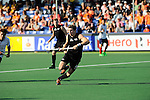 The Hague, Netherlands, June 01: Nick Haig #4 of New Zealand in action during the field hockey group match (Men - Group B) between the Black Sticks of New Zealand and Korea on June 1, 2014 during the World Cup 2014 at GreenFields Stadium in The Hague, Netherlands. Final score 2:1 (1:0) (Photo by Dirk Markgraf / www.265-images.com) *** Local caption ***