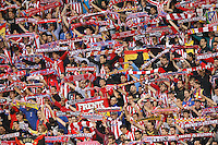 Atletico de Madrid´s supporters during Champions League soccer match between Atletico de Madrid and Malmo at Vicente Calderon stadium in Madrid, Spain. October 22, 2014. (ALTERPHOTOS/Victor Blanco)