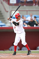 August 13, 2008: Efrain Contreras (37) of the Sarasota Reds at Ed Smith Stadium in Sarasota, FL. Photo by: Chris Proctor/Four Seam Images