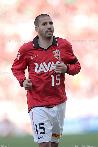 Sergio Escudero (Reds), APRIL 24th, 2011 - Football : J.LEAGUE Division 1, 7th Sec match between Urawa Reds 3-0 Nagoya Grampus at Saitama Stadium 2002, Saitama, Japan. The J.League resumed on Saturday 23rd April after a six week enforced break following the March 11th Tohoku Earthquake and Tsunami. All games kicked off in the daytime in order to save electricity and title favourites Kashima Antlers are still unable to use their home stadium which was damaged by the quake. Velgata Sendai, from Miyagi, which was hard hit by the tsunami came from behind for an emotional 2-1 victory away to Kawasaki. (Photo by Akihiro Sugimoto/AFLO SPORT) [1080].
