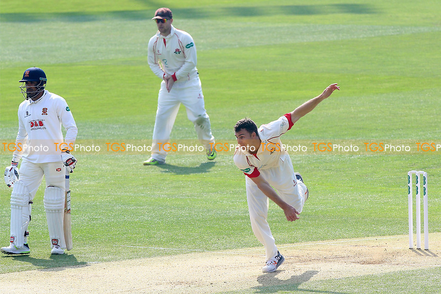 Ryan McLaren in bowling action for Lancashire during Essex CCC vs Lancashire CCC, Specsavers County Championship Division 1 Cricket at The Cloudfm County Ground on 8th April 2017