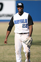 April 5, 2009:  Left fielder Eric Flynn (22) of the University of Buffalo Bulls during a game at Amherst Audubon Field in Buffalo, NY.  Photo by:  Mike Janes/Four Seam Images
