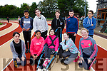 Enjoying the Kerry ETB students Athletics Day at An Riocht Castleisland on Tuesday were Front l-r Amy Griffin, Sami Elli, Brid Courtney, Norelle Quirke, Elizabeth Spain, Back l-r Jan Ackleberry, Loclin Tooey, Padraig O'Sullivan, Kieran Duggan, Jacopo Andolina<br /> Col&aacute;iste Gleann L&iacute;<br /> Tralee