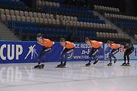 SPEEDSKATING: 06-12-2018, Tomaszów Mazowiecki (POL), ISU World Cup Arena Lodowa, Jos de Vos (NED), Marcel Bosker (NED), Louis Hollaar (NED), Esmee Visser (NED), ©photo Martin de Jong