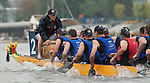 Vancouver, Canada, Aug 8th 2009. World Police and Fire Games, Dragon Boat Competition.  South Australia Fire Power in the Men's Open 20-Semi 1 race.  Photo by Gus Curtis
