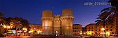 Tom Mackie, LANDSCAPES, panoramic, photos, Torres de Serranos at Night, Valencia, Spain, GBTM070485-3,#L#