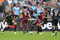 Michail Antonio and Rodri of Manchester City during West Ham United vs Manchester City, Premier League Football at The London Stadium on 10th August 2019