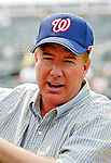 14 March 2007: Washington Nationals General Manager Jim Bowden watches his team take batting practice prior to facing the St. Louis Cardinals at Roger Dean Stadium in Jupiter, Florida...Mandatory Photo Credit: Ed Wolfstein Photo