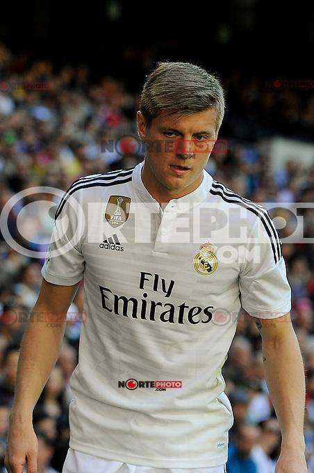 Real Madrid´s Toni Kroos during 2014-15 La Liga match between Real Madrid and Granada at Santiago Bernabeu stadium in Madrid, Spain. April 05, 2015. (ALTERPHOTOS/Luis Fernandez) /NORTEphoto.com