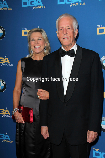 CENTURY CITY, CA - JANUARY 25: Paige Simpson and Michael Apted at the 66th Annual Directors Guild of America Awards at the Hyatt Regency Century Plaza on January 25, 2014 in Century City, California. Credit: Janice Ogata/MediaPunch<br />