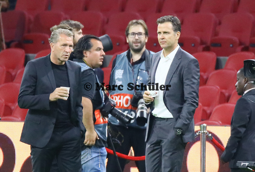 Torwarttrainer Andreas Koepke (Deutschland Germany) und Teammanager der Nationalmannschaft Oliver Bierhoff (Deutschland Germany) - 13.10.2018: Niederlande vs. Deutschland, 3. Spieltag UEFA Nations League, Johann Cruijff Arena Amsterdam, DISCLAIMER: DFB regulations prohibit any use of photographs as image sequences and/or quasi-video.