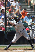 Trenton Thunder infielder Jose Pirela #28 at bat during a game against the Richmond Flying Squirrels at The Diamond on May 27, 2012 in Richmond, Virginia. Richmond defeated Trenton by the score of 5-2. (Robert Gurganus/Four Seam Images)