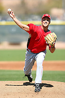 Brad Boxberger, Cincinnati Reds minor league spring training..Photo by:  Bill Mitchell/Four Seam Images.