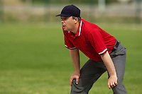 22 May 2009: Umpire Fabien Carette Legrand is seen during the 2009 challenge de France, a tournament with the best French baseball teams - all eight elite league clubs - to determine a spot in the European Cup next year, at Montpellier, France. Senart wins 7-1 over Montpellier.