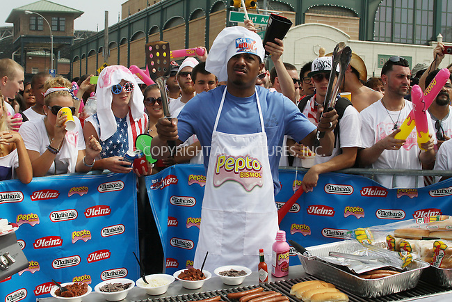 WWW.ACEPIXS.COM . . . . .  ....July 4 2011, New York City....Nick Cannon at the 2011 Nathan's Famous Fourth of July International Hot Dog Eating Contest in Coney Island on July 4, 2011 in Brooklyn, New York City. Joey Chestnut won the men's competition by eating 62 hot dogs and Sonya Thomas won the women's event by eating 40 hot dogs in 10 minutes.....Please byline: CURTIS MEANS - ACE PICTURES.... *** ***..Ace Pictures, Inc:  ..Philip Vaughan (212) 243-8787 or (646) 679 0430..e-mail: info@acepixs.com..web: http://www.acepixs.com
