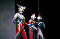 "July 27 2012, Tokyo, Japan - Characters of the TV series ""Ultraman"" appear on stage in a sample scene. To celebrate the 45th anniversary of the hero, fans can enjoy the Festival from 27 July to 2 September at Sunshine City complex in Ikebukuro, Tokyo. (Photo by Rodrigo Reyes Marin/AFLO)"