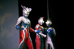 """July 27 2012, Tokyo, Japan - Characters of the TV series """"Ultraman"""" appear on stage in a sample scene. To celebrate the 45th anniversary of the hero, fans can enjoy the Festival from 27 July to 2 September at Sunshine City complex in Ikebukuro, Tokyo. (Photo by Rodrigo Reyes Marin/AFLO)"""
